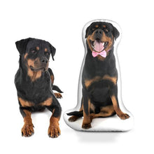 Load image into Gallery viewer, Custom Rottweiler Body Shape Pillow| Body Shaped Pillow | One/Double Sides Print | Create Your Own Cute Pillow | Surprise Gift