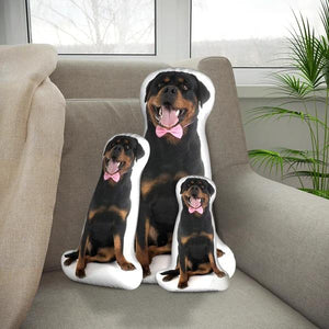 Custom Rottweiler Body Shape Pillow| Body Shaped Pillow | One/Double Sides Print | Create Your Own Cute Pillow | Surprise Gift