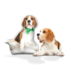 Load image into Gallery viewer, Custom Cute Beagle Body Shape Pillow| Body Shaped Pillow | One/Double Sides Print | Create Your Own Cute Pillow | Surprise Gift