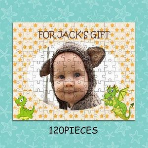 Personalized Photo Jigsaw Puzzle To The Cute Baby - 35-1500 pieces - faceonboxer