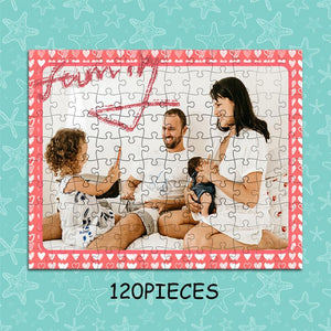 Personalized Photo Jigsaw Puzzle To The Warm Family - 35-1500 pieces - faceonboxer