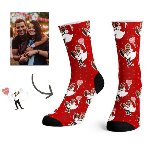 Custom Wedding Face Socks -