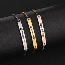 Load image into Gallery viewer, Scannable Spotify Code Bracelet 3D Engraved Vertical Bar Bracelet Gifts For Her
