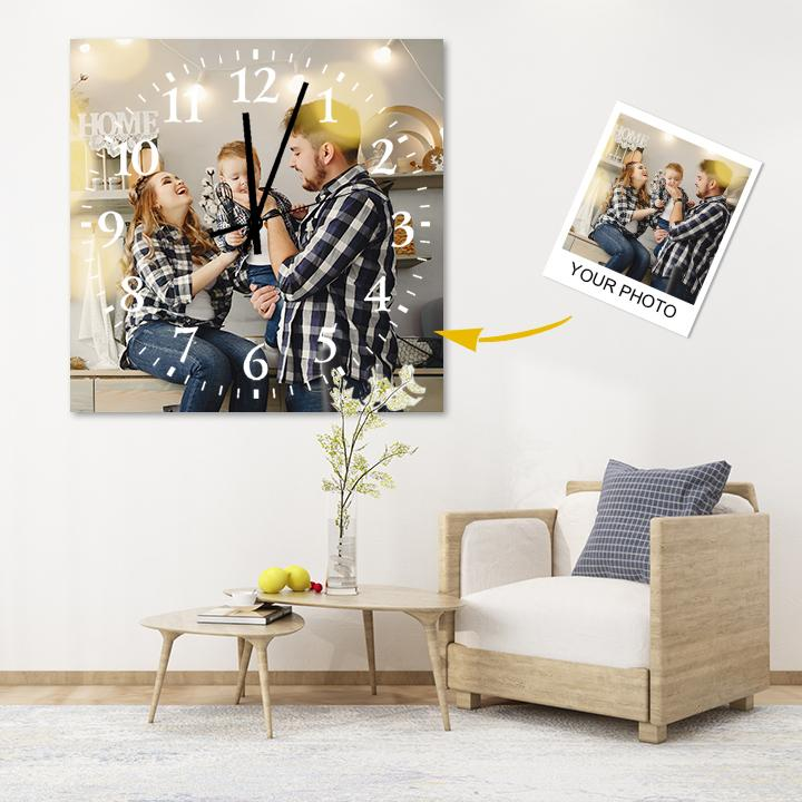 Custom Meaningful Gift Photo Square Wall Clock