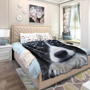 Custom Dog/Pet Fleece Photo Blanket with Your Photo - faceonboxer