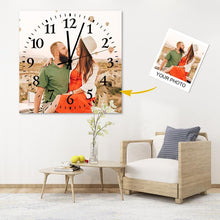 Load image into Gallery viewer, Custom Meaningful Gift Couple Photo Square Wall Clock