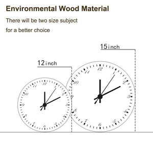 Custom Meaningful Gift Photo Wall Clock Environmental Wood Material