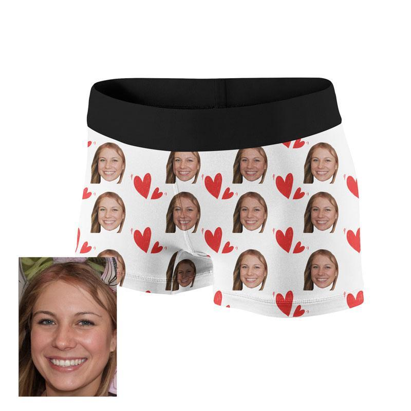 Custom Heart Face Boxer - faceonboxer