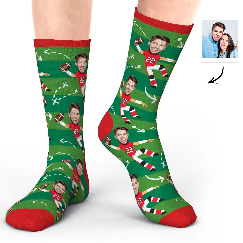 Custom Christmas Present Face Socks