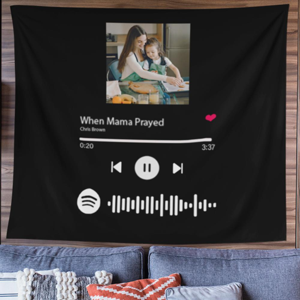 Tapestry With Spotify Album Code,Perfect Gift for Mom