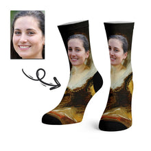 Load image into Gallery viewer, Custom Smile Face Socks -