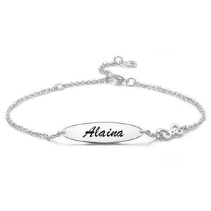 Engraved Bracelet Personalized Bracelet Name Jewelry - faceonboxer