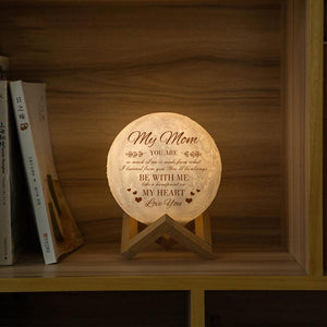 Best Gift Engraved Moon Lamp My Mom Be With Me