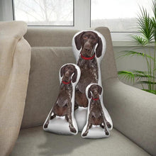 Load image into Gallery viewer, Custom German Shorthaired Pointer Body Shape Pillow| Body Shaped Pillow | One/Double Sides Print | Create Your Own Cute Pillow | Surprise Gift