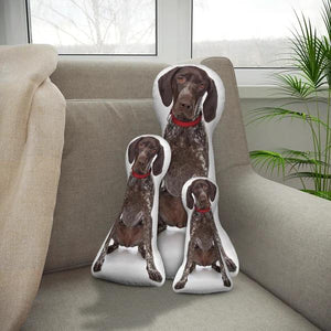 Custom German Shorthaired Pointer Body Shape Pillow| Body Shaped Pillow | One/Double Sides Print | Create Your Own Cute Pillow | Surprise Gift