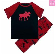 Load image into Gallery viewer, Family Matching Christmas Red Deer Pajamas Set