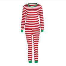 Load image into Gallery viewer, Christmas ELF Print Striped Family Matching Pajamas Set