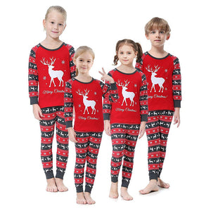 Christmas Elk Pajama Set for parent and child