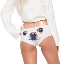Load image into Gallery viewer, Custom Photo Women's Panties with cute animal ears, Sexy throngs, Ladies'  underwear,  Lovely Dogs, favorite pets
