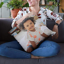 "Load image into Gallery viewer, Custom Kids Photo Throw Pillow Sweetheart Gifts Idea 15.75""*15.75"""