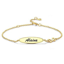 Load image into Gallery viewer, Engraved Bracelet Personalized Bracelet Name Jewelry - faceonboxer