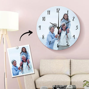 Custom Photo Wall Clock For Grandparents