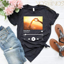 Load image into Gallery viewer, Custom Spotify Code Style T-shirt Album Photo and Code