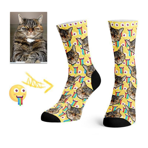 Custom Emoji Pet Face Socks -