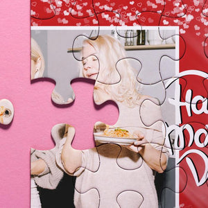 Personalized Happy Mother's Day Photo Jigsaw Puzzle - 35-1000 pieces