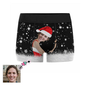 Custom Face Snowing Men's All-Over Print Boxer Briefs