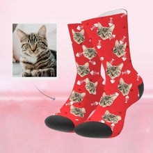 Load image into Gallery viewer, Custom Funky Gift Pet Face Socks