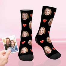 Load image into Gallery viewer, Custom Funky Gift Heart Print Face Socks