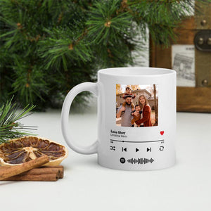 Custom Magic Heat Color Changing Coffee Mugs with Spotify Album Cover