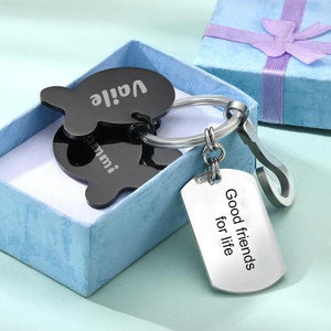 Engraved Little Fish Key Chain With 4 Fish Memorial Gift