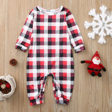 Load image into Gallery viewer, Christmas Elk and Plaid Family Matching Pajamas Set