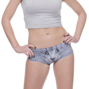 Custom Photo Women's Panties with cute animal ears, Sexy throngs, Ladies'  underwear, Fluffy Kitty