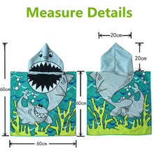 Load image into Gallery viewer, Hooded Towel for Kids Swimsuit Cover Up for Beach, Pool, Bath, Poncho Towel, Wearable Beach Towel, Mermaid with Blond