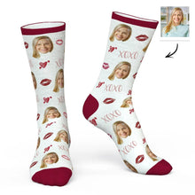 Load image into Gallery viewer, Custom Lip Print & XOXO Face Socks