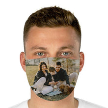 Load image into Gallery viewer, Custom photo Face Cover, perfect gift to your family, personalized family photo mask, create your own print on your mask