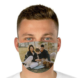 Custom photo Face Cover, perfect gift to your family, personalized family photo mask, create your own print on your mask