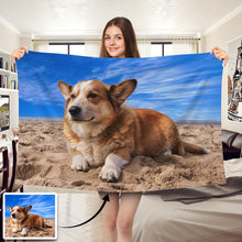 Load image into Gallery viewer, Custom Dog/Pet Photo Blankets Feelce Blanket - faceonboxer