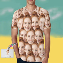 Load image into Gallery viewer, Custom Face White T-shirt with Girlfriend's Photo