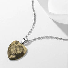 Load image into Gallery viewer, Women's Printing Photo Locket Heart Necklace - faceonboxer
