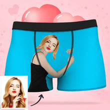 Load image into Gallery viewer, Custom Girlfriend Hugs Boxer Shorts Smash Face Men's Panties