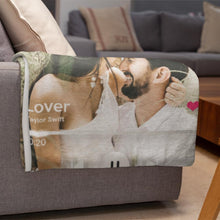Load image into Gallery viewer, Custom Spotify Code Blankets Personalized Spotify Code Blanket Fleece Blanket 5 Sizes