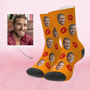 Custom Perfect Gift Lip Print Face Socks