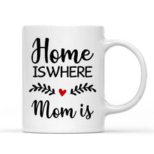 Load image into Gallery viewer, Custom Photo White Mug, Happy Mother's Day, with Spotify Album Code, Home is where mom is