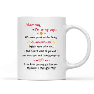 Personalized Mug, Custom Photo Mug, Gift for Mom, Happy Mother's Day from the bump