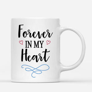 Custom Photo White Mug, Happy Mother's Day, with Spotify Album Code, perfect gift for Mother's Day, Forever in my heart