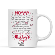 Load image into Gallery viewer, Custom Photo White Mug, Happy First Mother's Day, with Spotify Album Code, perfect gift for Mother's Day, Lovely mug